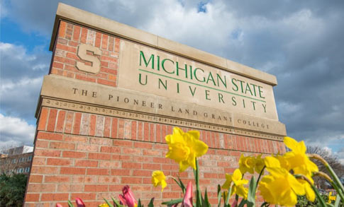 Brick Sign Marker for Michigan State University