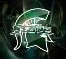 Michigan State University Spartan Helment Logo